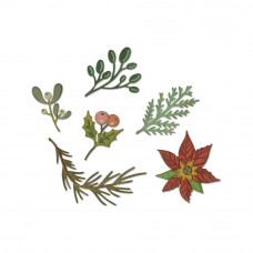 Funky Festive Florals Sizzix Thinlits Dies By Tim Holtz 6/Pkg