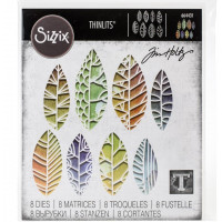 Cut Out Leaves Sizzix Thinlits Dies By Tim Holtz