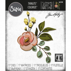 Bloom Colorize Sizzix Thinlits Dies By Tim Holtz