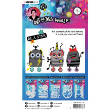 Art by Marlene Cutting Dies Out Of This World nr.85 Robot Mix and Match