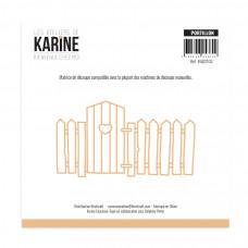 Bienvenue chez moi Portillon Garden gate die - Les Ateliers de Karine