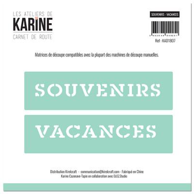 Dies Carnet de Route Souvenirs-Vacances - Les Ateliers de Karine