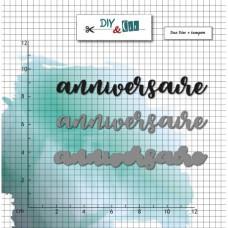 Anniversaire - stamp and dies by DIY & Cie