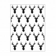 Deer heads - Darice Embossing folder