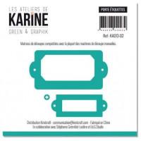 Set of 3 dies Label Holders - Les Ateliers de Karine