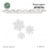 Flocons mignons dies - Flocons collection by Mes p'tits ciseaux