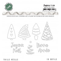 Sapins et cie dies - Flocons collection by Mes p'tits ciseaux