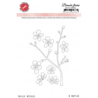 Branche fleurie dies - Harmonie collection by Mes p'tits ciseaux