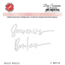 Duo souvenirs bonheur dies - Harmonie collection by Mes p'tits ciseaux