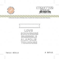 Etiquettes 2 Love - Plume collection by Mes p'tits ciseaux