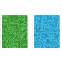 Arrows and Numbers two pack set of Sizzix Embossing Folders