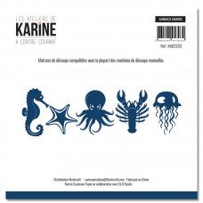 Dies Marine Animals A contre courant Animaux marins - Les Ateliers de Karine
