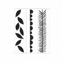Vertical Leaves Darice Embossing folder