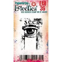 Eclectica {Seth Apter} Mini 39 PaperArtsy Stamp - Seek