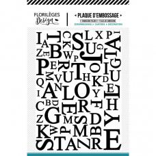 Florileges design plaque d'embossage - Mix de Lettres