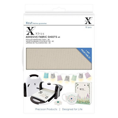 Xcut Xtra A5 Adhesive Fabric Sheets 10 Pack Beige