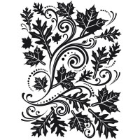 Fall Leaf Background embossing folder