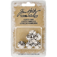 Fluted Metal Stars 20/Pkg- Tim Holtz