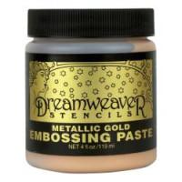 Dreamweavers Embossing Paste Metallic Gold
