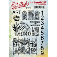 PaperArtsy stamps Hot Pick 1605 mounted on EZ foam