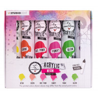 Art By Marlene Acrylic Paint set Essentials nr.104 - Neon