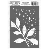 Chou & Flowers Stencil - Feuille Étoilée (starry leaf)