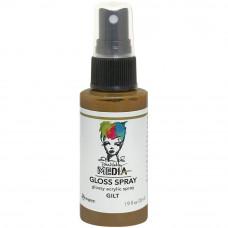 Dina Wakley Media Metallic Gloss Spray - Gilt