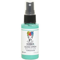 Dina Wakley Media Gloss Spray - Turquoise