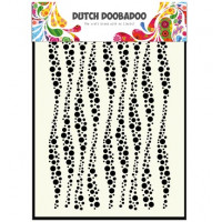 Dutch DooBaDoo Mask Art A5 Stencil - Wavy Stripes