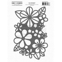 Chou & Flowers Journal Chromatique collection - Stencil Mask Floral