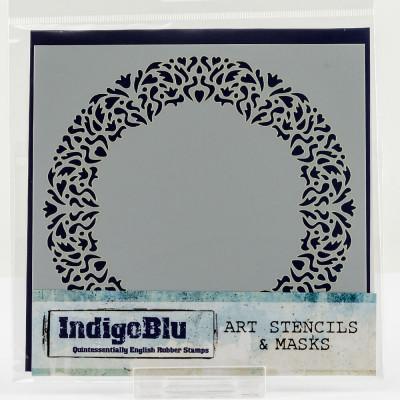 Indigo Blu Stencil 152 x 152 mm - Vintage Frame