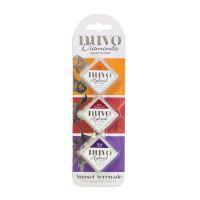 Nuvo Diamond hybrid ink pad trio - Sunset Serenade