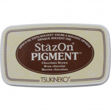 StazOn pigment ink - Chocolate Brown