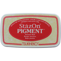 StazOn pigment ink - Passion Red