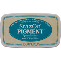 StazOn pigment ink - Peacock Feathers