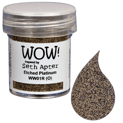 Wow! Embossing Powder by Seth Apter - Etched Platinum