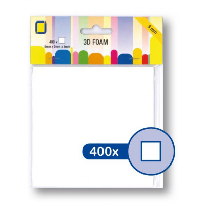3D Foam Squares 5 x 5 x 3mm 400pcs