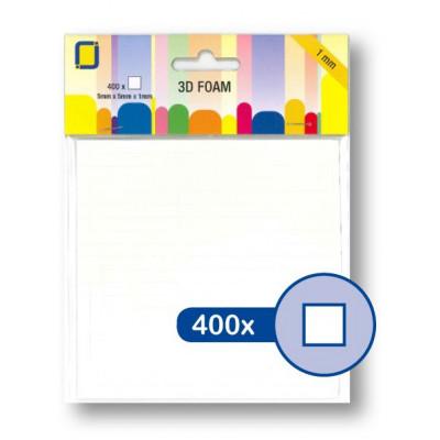 3D Foam Squares 5 x 5 x 1 mm