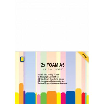 3D Foam sheets - 2 sheets A5, 3mm thick