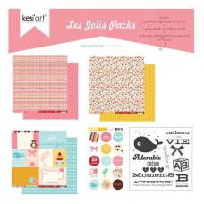 Kesi'art joli pack de papiers et tampons - Adorable