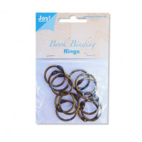 """12 Book Binding Rings 19mm (3/4"""") - Antique Copper"""