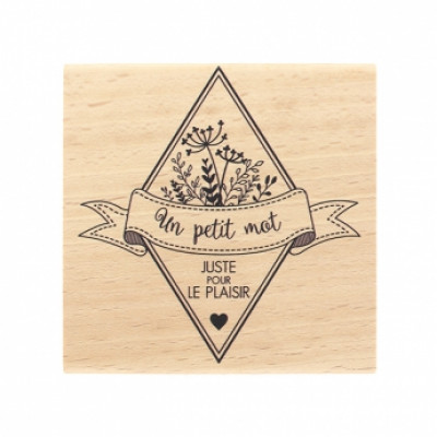 JUSTE POUR LE PLAISIR -  Wood Mounted Florilèges Design Stamp