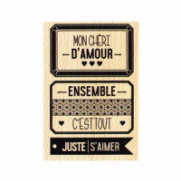 JUSTE S'AIMER -  Wood Mounted Stamp Florilèges Design