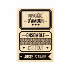 JUSTE S'AIMER- Tampon bois Florilèges Design