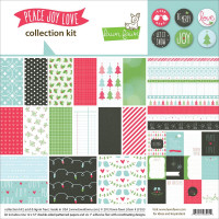 Peace, Joy, Love collection kit of scrapbooking papers and flair badges - Lawn Fawn