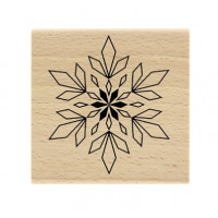Flocon géométrique / geometric snowflake -  Wood Mounted Stamp Florilèges Design