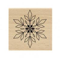Flocon géométrique - Tampon bois Florilèges Design
