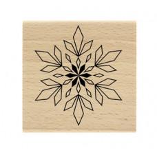Flocon géométrique / geometric snowflake -  Wood Mounted Stamp Florilèges Design
