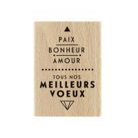 Paix et amour -  Wood Mounted Stamp Florilèges Design