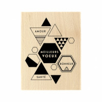 MODERN GREETINGS -  Wood Mounted Florilège Stamp